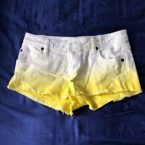 Rvca ombré low rise shorts